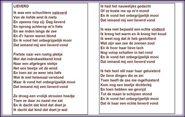 Poëzieweek Elke Dag Een Gedicht Vandaag Lieverd Van Toon