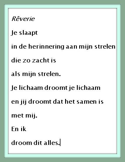 Poëzieweek Elke Dag Een Gedicht Vandaag Rêverie Herman